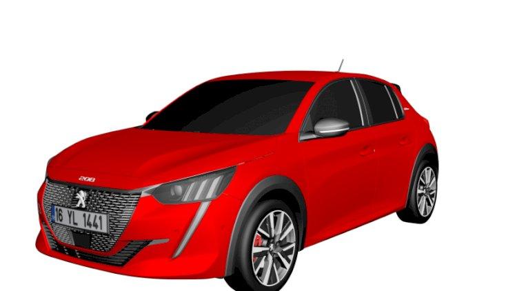 2020 Peugeot 208 3D Model