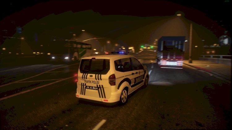 Ford Tourneo Courier Trafik Polisi [ELS] - [Replace] V1.1