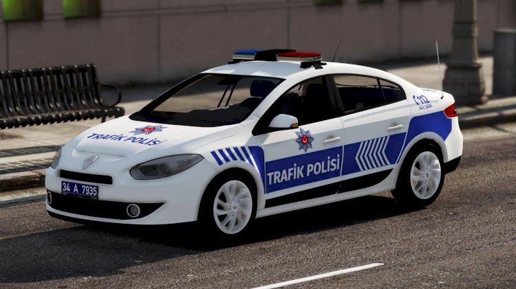 Renault Fluence Polis Asayiş & Trafik Polisi [Kaplama]