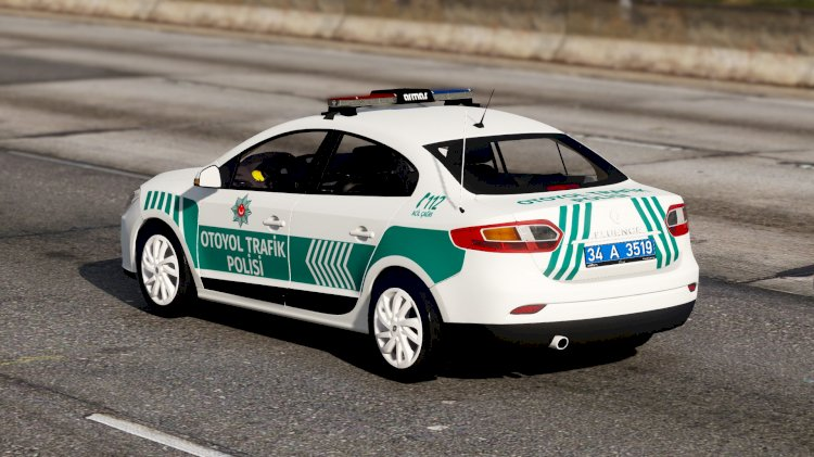 Renault Fluence Otoyol Trafik Polisi [Kaplama]