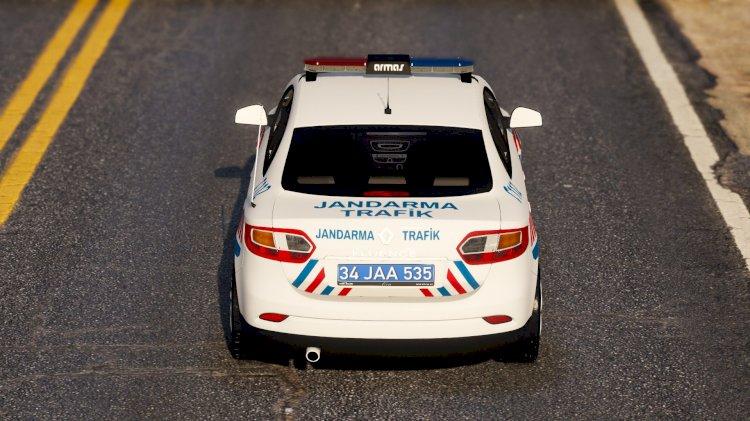 Renault Fluence Jandarma Trafik [Kaplama]