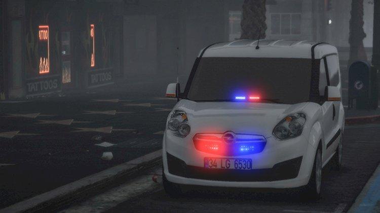 Opel Combo 2015 Double Door Turkish Police Car [ELS] [REPLACE]
