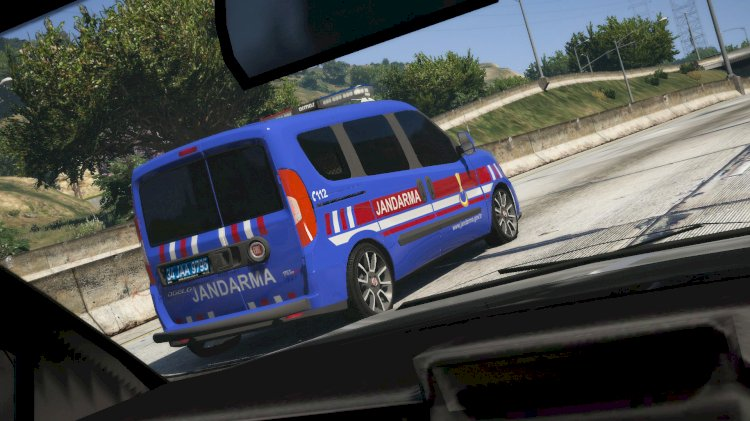 Fiat Doblo 2020 - Double Door Turkish Police Car [ELS] [REPLACE]